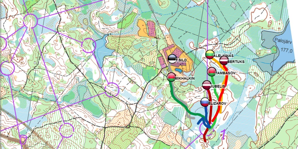 Baltic Orienteering Championships GPS tracking