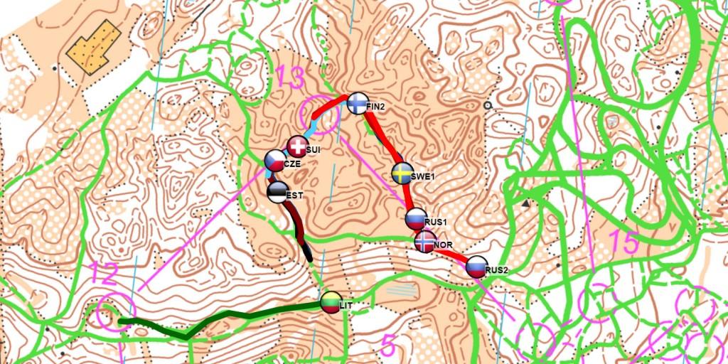 Ski Orienteering Latvia GPS tracking