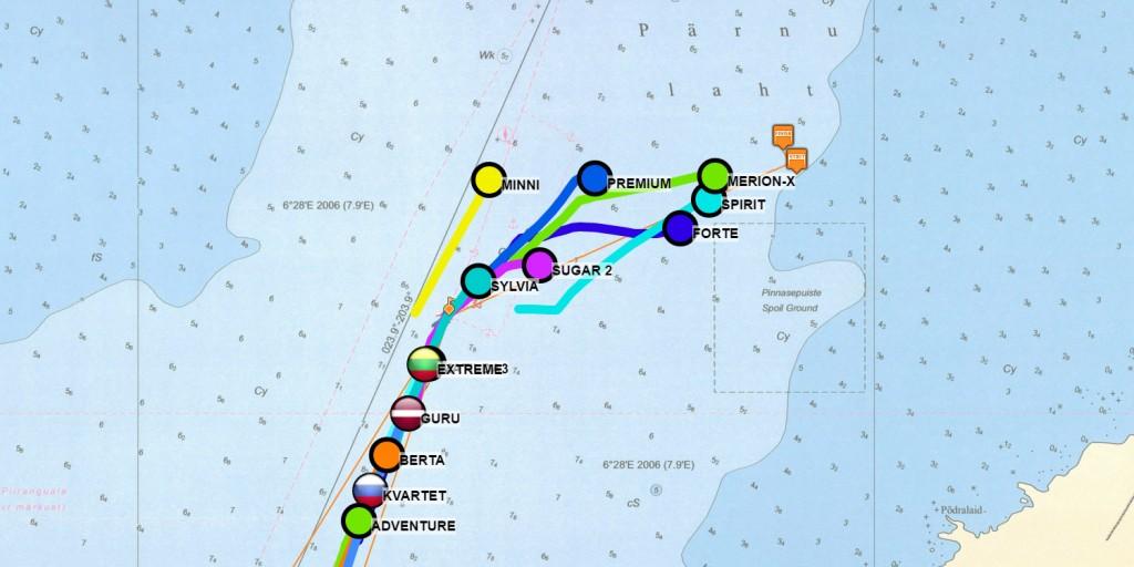 Moonsund ORC regatta GPS tracking