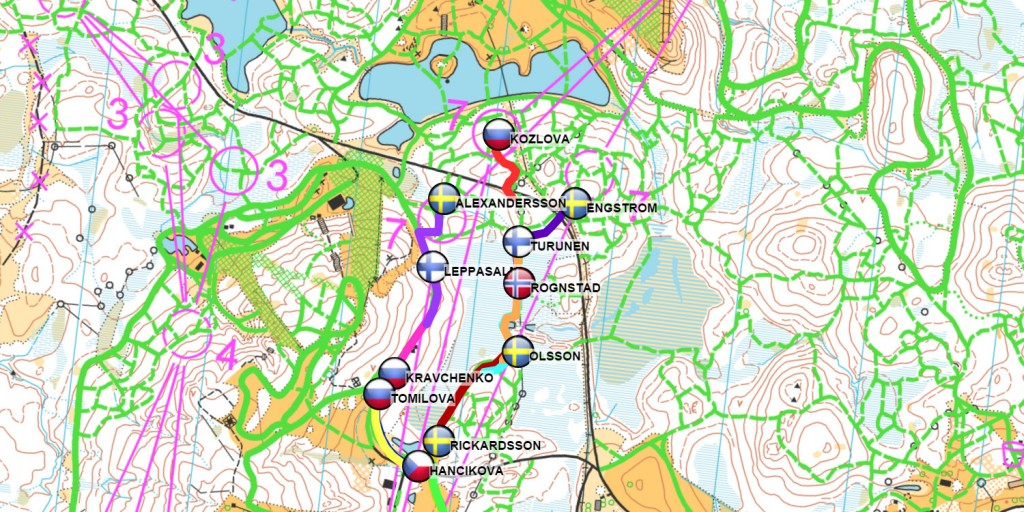 Ski Orienteering real time GPS tracking